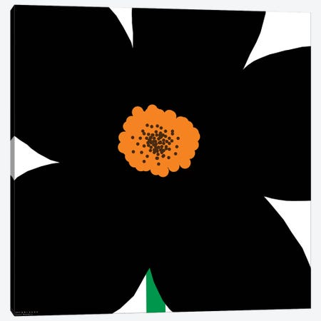Black Flower Canvas Print #ARM35} by Art Mirano Canvas Wall Art