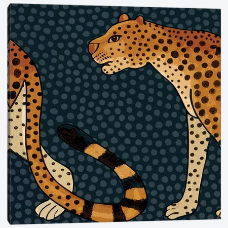 Two Leopards Canvas Print #ARM363} by Art Mirano Canvas Artwork