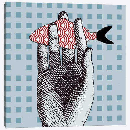 Fish On Hand Canvas Print #ARM364} by Art Mirano Canvas Print