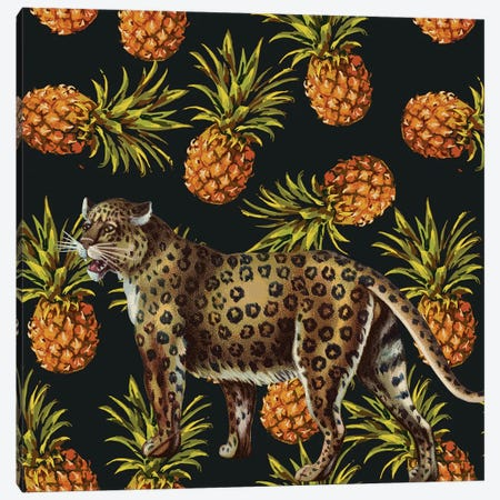 Leopard In Pinapples Canvas Print #ARM374} by Art Mirano Canvas Artwork
