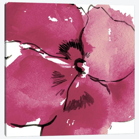 Stella Flower Pink Canvas Print #ARM384} by Art Mirano Art Print