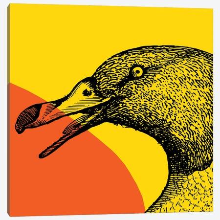 Bird On Yellow Big Canvas Print #ARM388} by Art Mirano Canvas Artwork