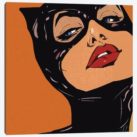 Black Cat Canvas Print #ARM390} by Art Mirano Canvas Art Print