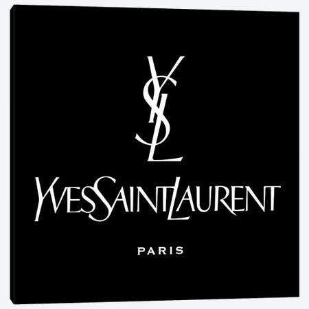 YSL Paris black Canvas Print #ARM398} by Art Mirano Canvas Art Print