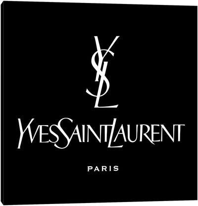 YSL Paris black Canvas Art Print
