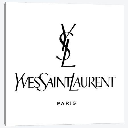YSL Paris white Canvas Print #ARM399} by Art Mirano Art Print
