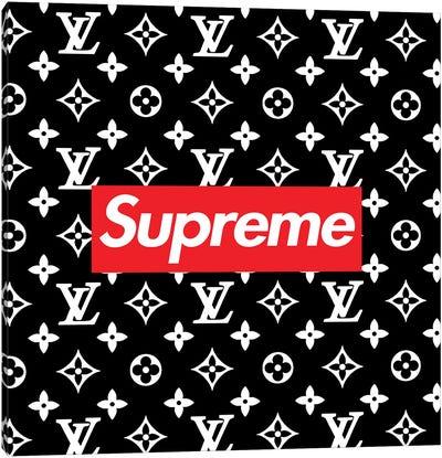 LV black Supreme Canvas Art Print