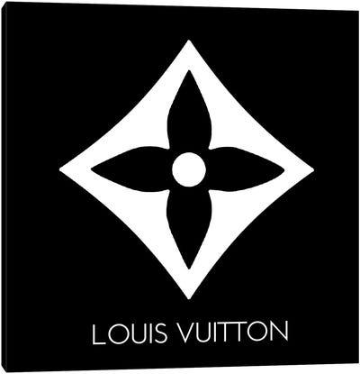 Louis Vuitton Symbol Light Black Canvas Art Print