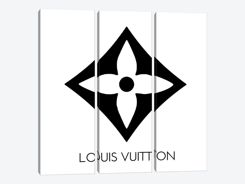 Louis Vuitton Symbol Light White by Art Mirano 3-piece Canvas Art