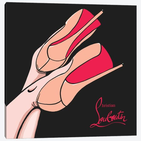 Christian Louboutin Shoes Canvas Print #ARM411} by Art Mirano Canvas Art