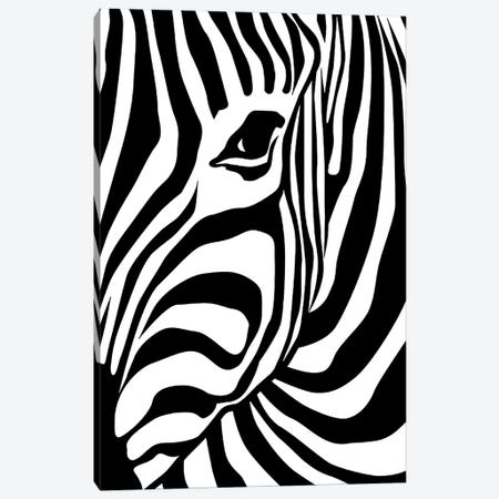 Zebra Canvas Print #ARM415} by Art Mirano Canvas Print