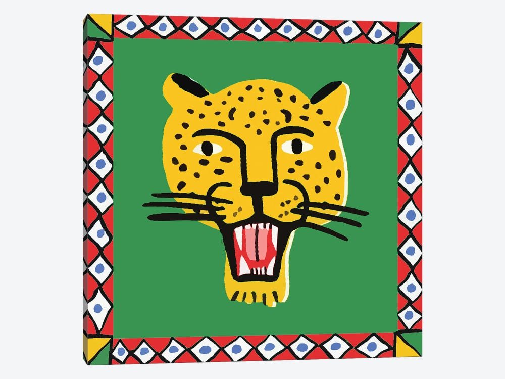 Leopard In Frame by Art Mirano 1-piece Canvas Artwork