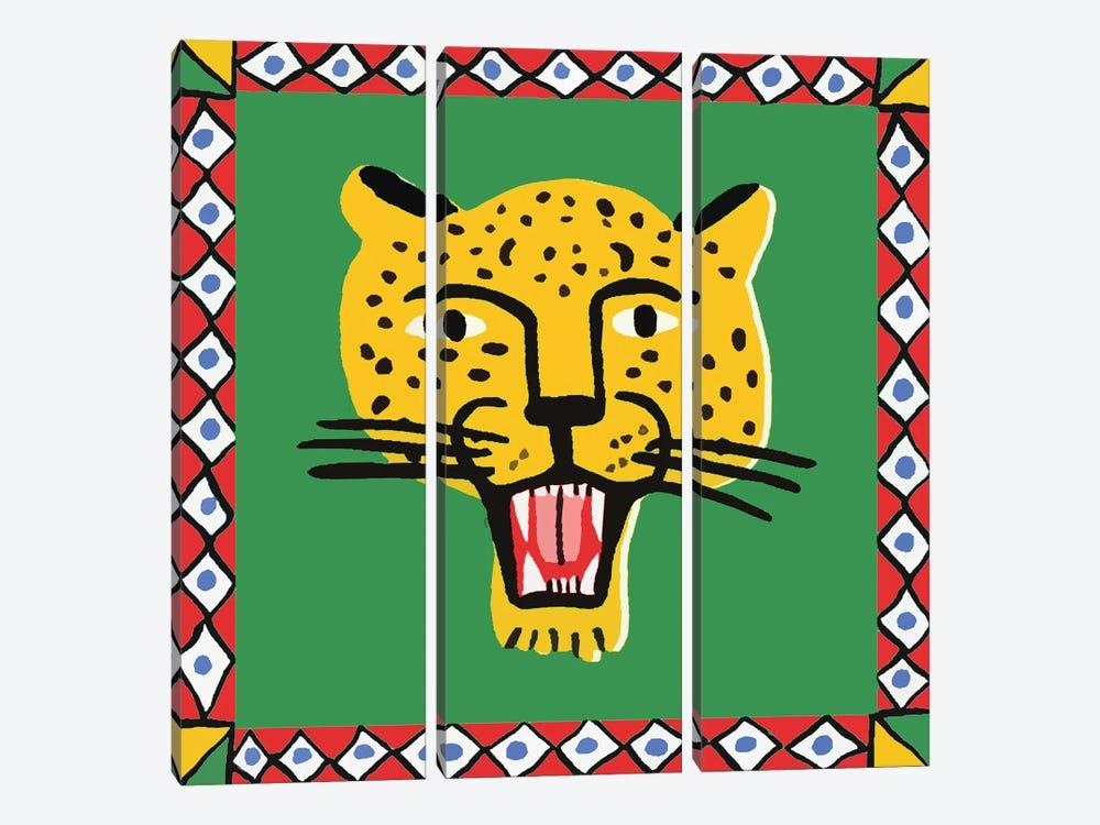 Leopard In Frame by Art Mirano 3-piece Canvas Artwork