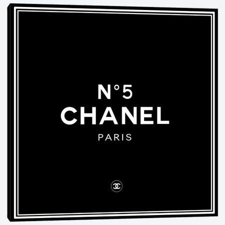 Chanel №5 Black Canvas Print #ARM420} by Art Mirano Art Print