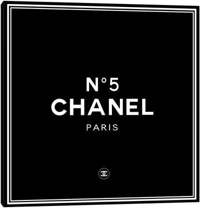 Chanel №5 Black Canvas Art Print