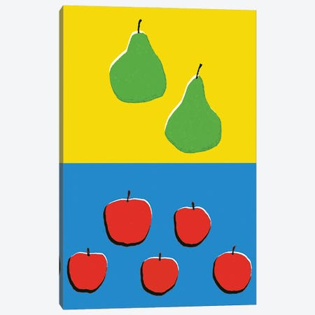 Fruits Blue Yellow Canvas Print #ARM426} by Art Mirano Canvas Artwork