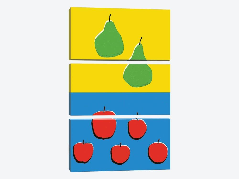 Fruits Blue Yellow by Art Mirano 3-piece Art Print