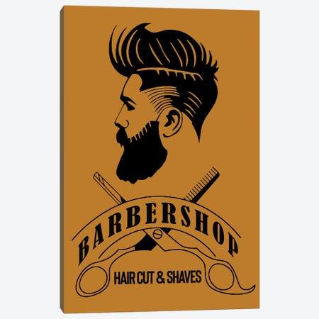 Barbershop Hair Cut & Shaves I Canvas Print #ARM428} by Art Mirano Art Print