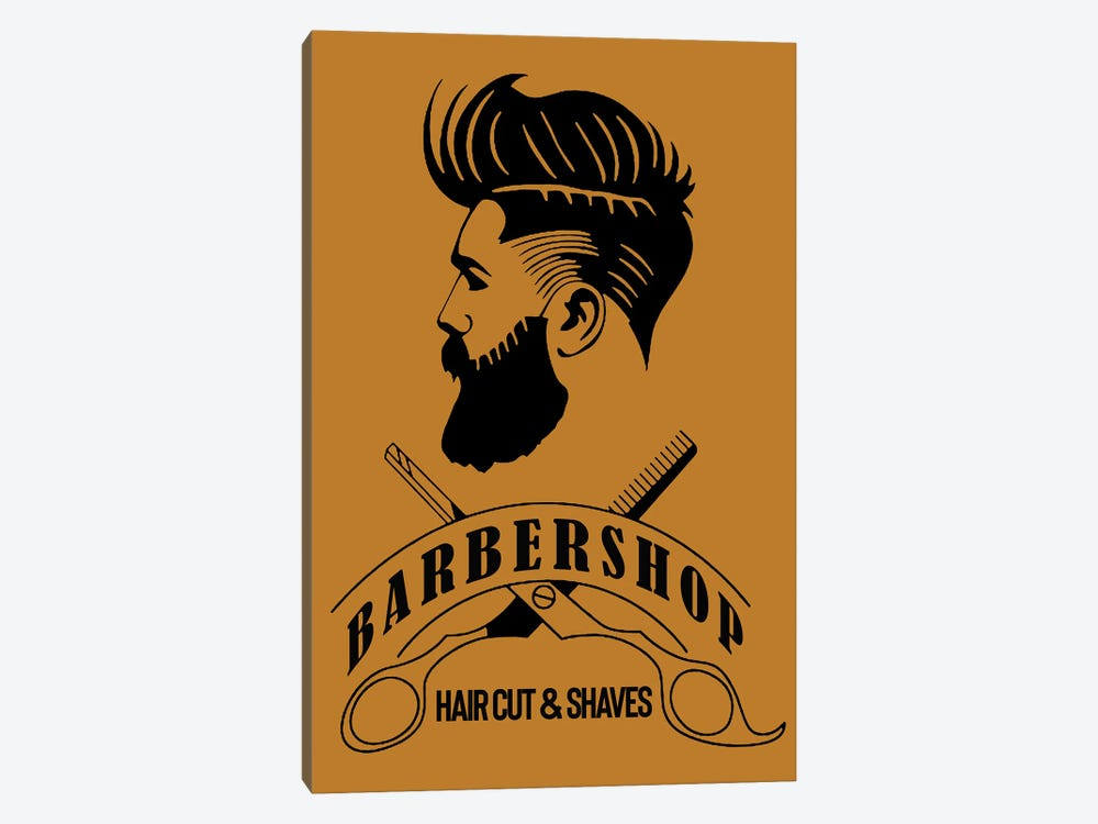 Barbershop Hair Cut & Shaves I by Art Mirano 1-piece Canvas Print