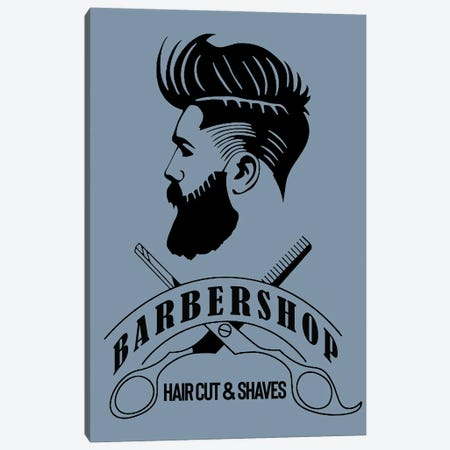 Barbershop Hair Cut & Shaves II Canvas Print #ARM430} by Art Mirano Canvas Artwork