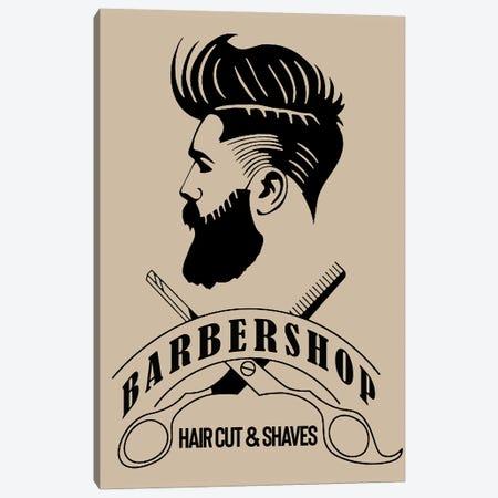 Barbershop Hair Cut & Shaves III Canvas Print #ARM431} by Art Mirano Canvas Artwork