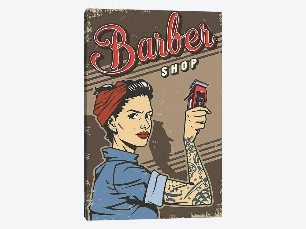 Barbershop Woman by Art Mirano 1-piece Canvas Artwork