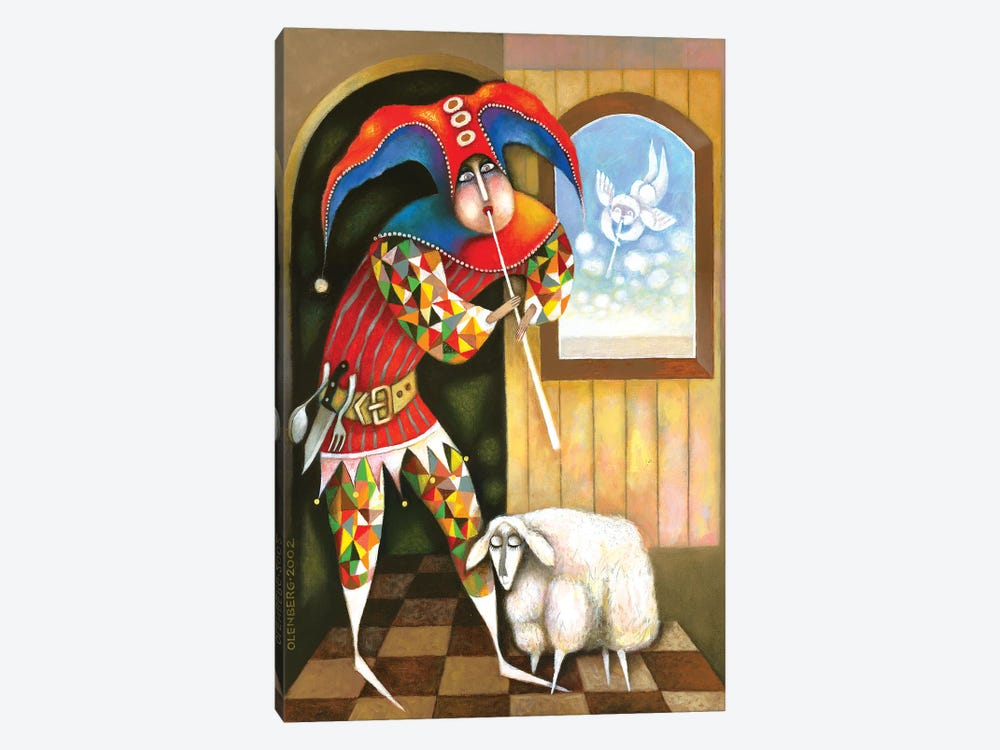 Shepherd And Sheep by Art Mirano 1-piece Canvas Print