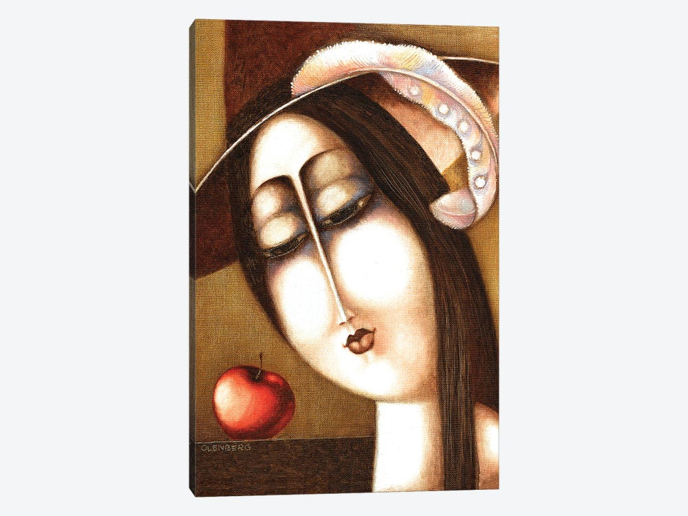 Woman And Apple by Art Mirano 1-piece Canvas Print