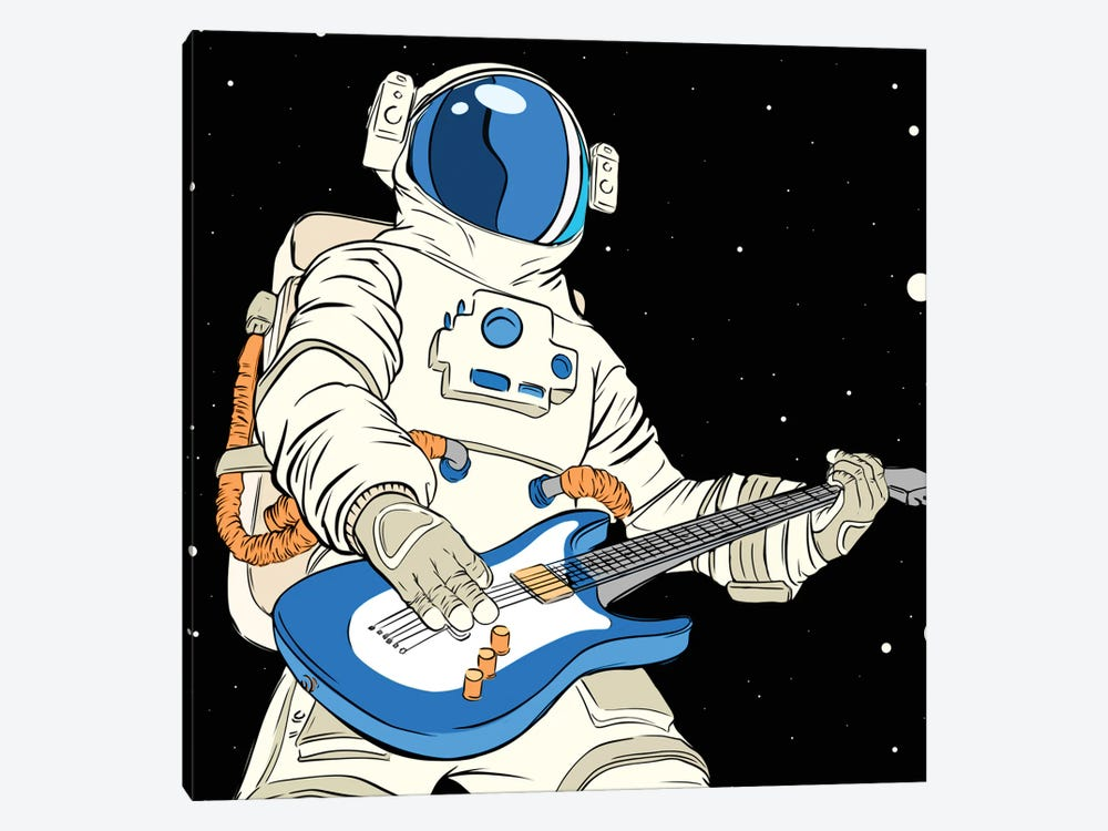 Astronaut guitarist by Art Mirano 1-piece Canvas Print