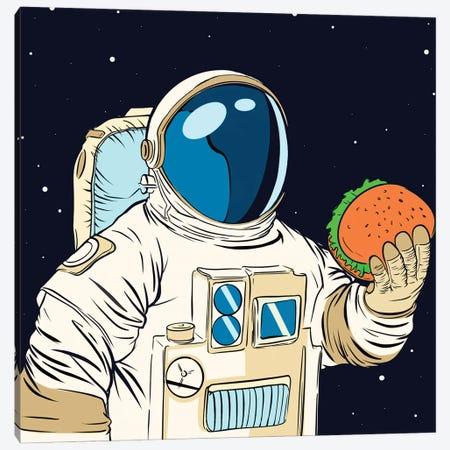 Astronaut and hamburger Canvas Print #ARM458} by Art Mirano Canvas Artwork