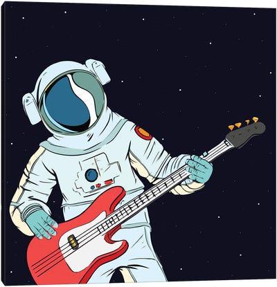 Guitarist astronaut Canvas Art Print