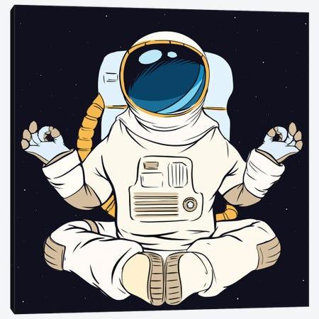 Astronaut and meditation Canvas Print #ARM461} by Art Mirano Art Print