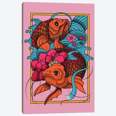 Japan fish Canvas Print #ARM469} by Art Mirano Canvas Art Print