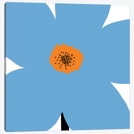 Blue Flower Canvas Print #ARM46} by Art Mirano Canvas Print
