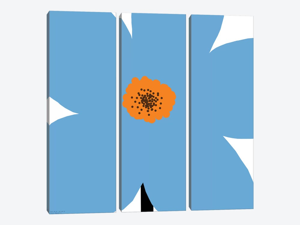 Blue Flower by Art Mirano 3-piece Canvas Art Print
