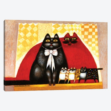 Cats family Canvas Print #ARM479} by Art Mirano Canvas Artwork