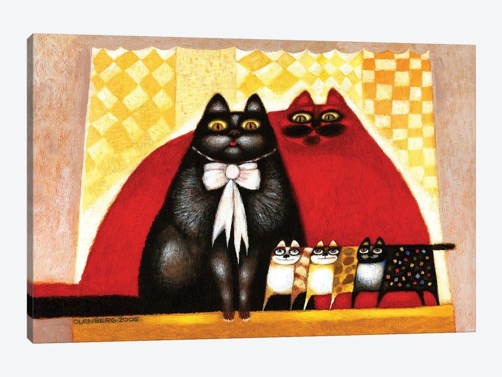 Cats family by Art Mirano 1-piece Canvas Art Print