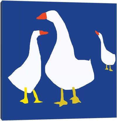 Blue Geese Canvas Art Print