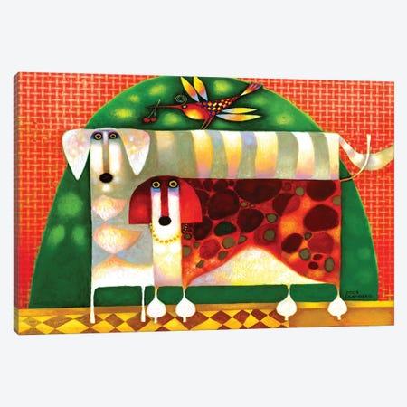 Dogs Canvas Print #ARM482} by Art Mirano Art Print
