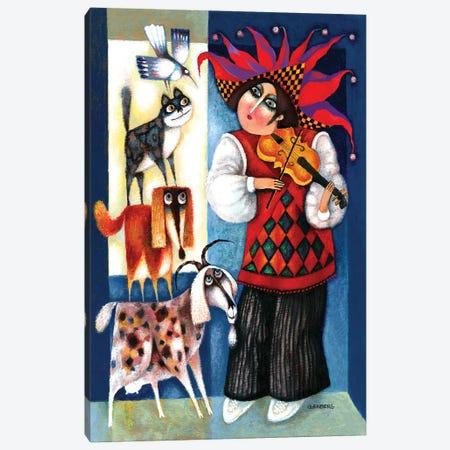 Violinist Canvas Print #ARM486} by Art Mirano Canvas Art