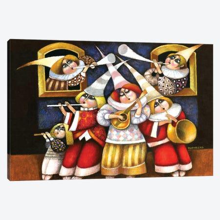 Musicians Canvas Print #ARM495} by Art Mirano Art Print