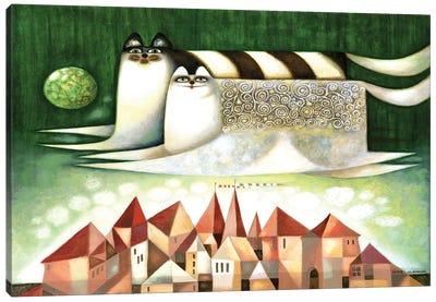 Flying cats Canvas Art Print