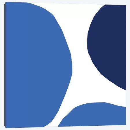 Blue Hidden Circles Canvas Print #ARM49} by Art Mirano Canvas Wall Art