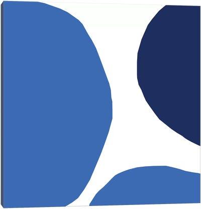 Blue Hidden Circles Canvas Art Print