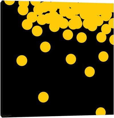 98 Yellow Peas On Black Canvas Art Print