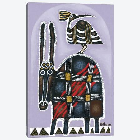 Donkey and bird Canvas Print #ARM501} by Art Mirano Canvas Artwork