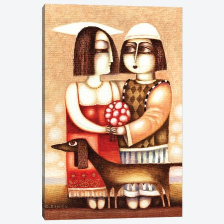 Date of lovers Canvas Print #ARM507} by Art Mirano Canvas Art Print