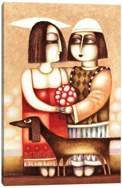 Date of lovers Canvas Art Print