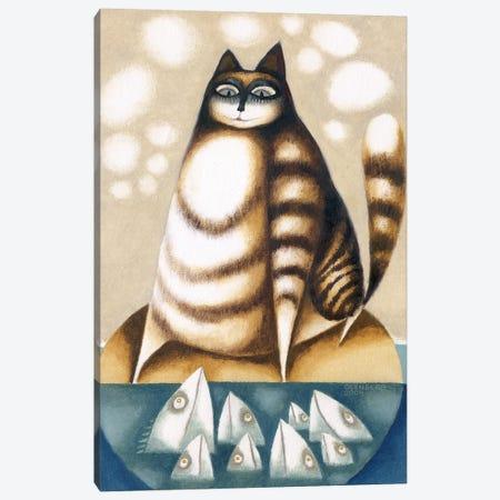 Fish and Big cat Canvas Print #ARM512} by Art Mirano Art Print