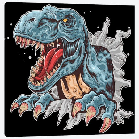 Dinosaur Canvas Print #ARM516} by Art Mirano Canvas Wall Art